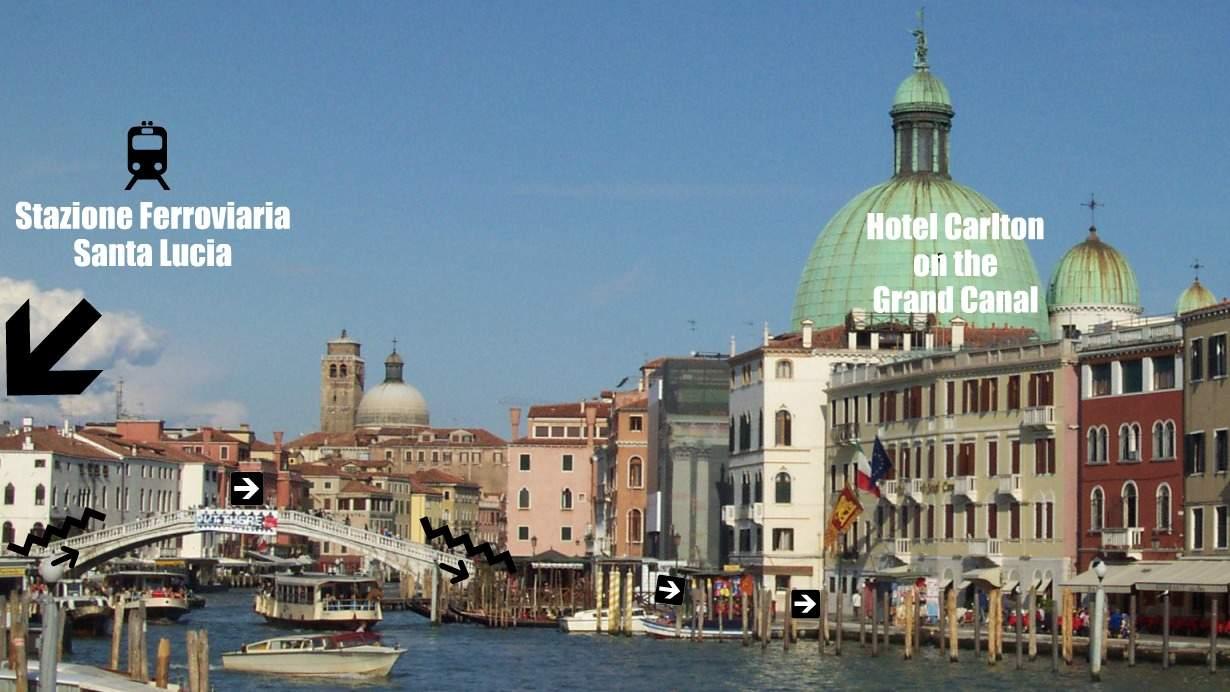 Hotel Carlton en el Gran Canal de Venecia. Carlton en el Gran Canal Hotel Venice.