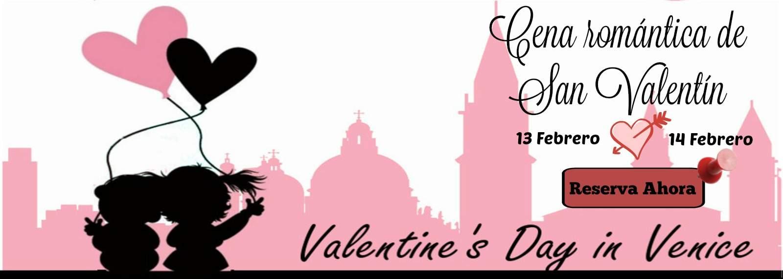 Cena romántica de San Valentín