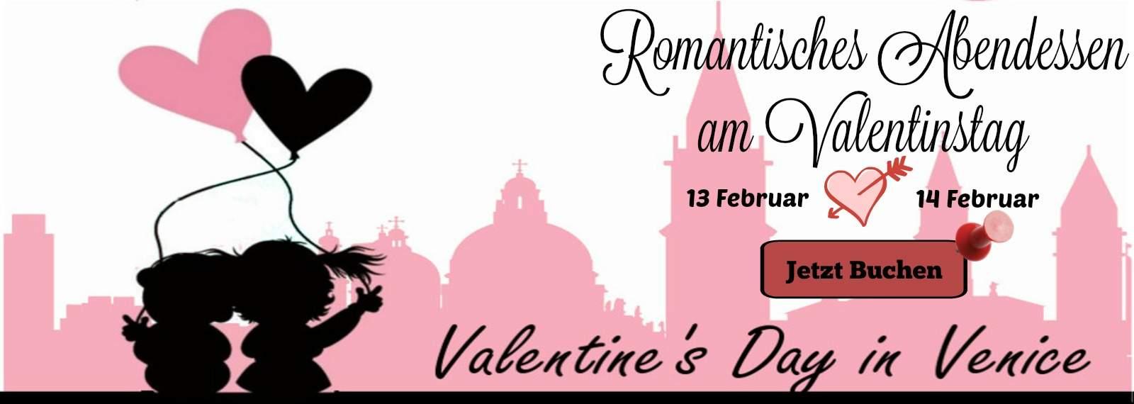 Romantisches Abendessen am Valentinstag